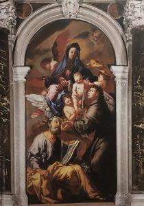 La sacra Famiglia, S. Foca e S. Marco