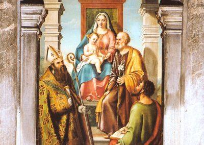 La Sacra famiglia San Foca e San Marco